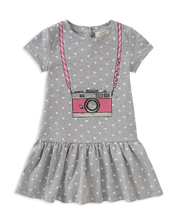 $kate spade new york Girls' Polka-Dotted Trompe L'Oeil Camera Dress - Little Kid - Bloomingdale's