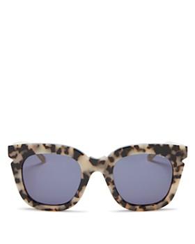 Pared Eyewear - Women's Pools & Palms Oversized Cat Eye Sunglasses, 50mm