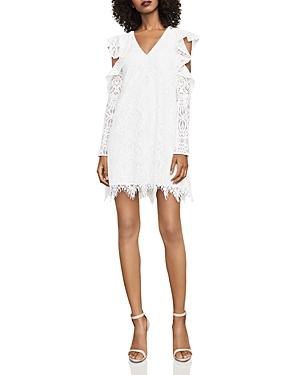 Bcbgmaxazria Marian Cold-Shoulder Lace Dress