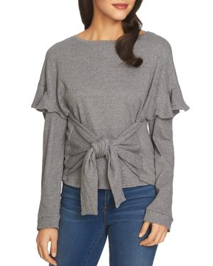 1.state Tie-Front Knit Top