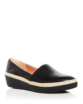 FitFlop -  Women's Casa Leather Wedge Platform Loafers