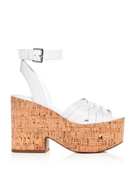 Sigerson Morrison - Women's Becca Leather Platform Wedge Sandals