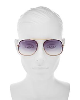 Ray-Ban - Unisex Mirrored Brow Bar Square Aviator Sunglasses, 58mm