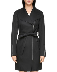 Mackage - Estella Leather Trimmed Trench Coat