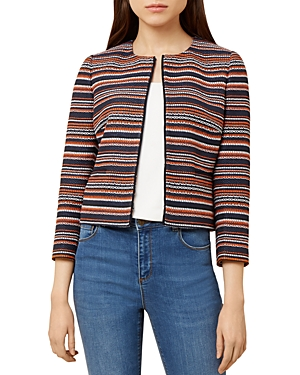Hobbs London Tammi Striped Tweed Jacket