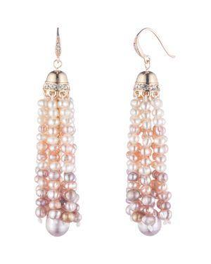Carolee Cultured Freshwater Pearl Tassel Drop Earrings
