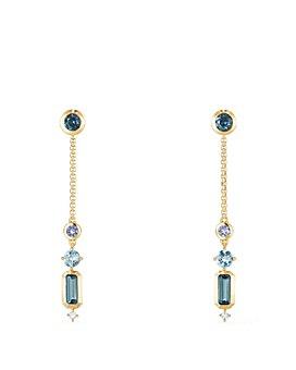 David Yurman - 18K Yellow Gold Novella Drop Earrings with Gemstones & Diamonds
