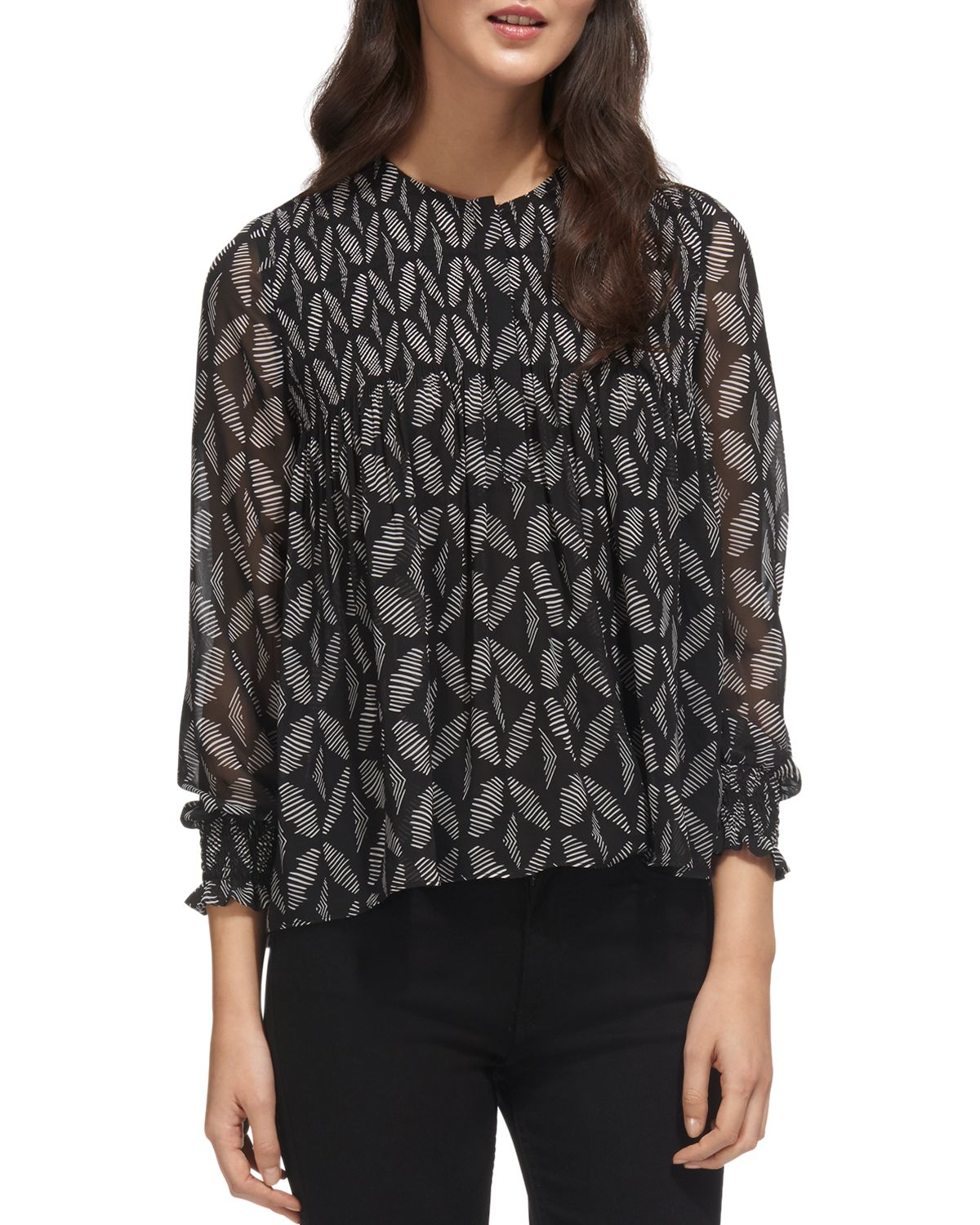 Belinda Geo Print Blouse by Whistles