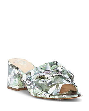 Vince Camuto Women's Sharrey Printed Block Heel Slide Sandals
