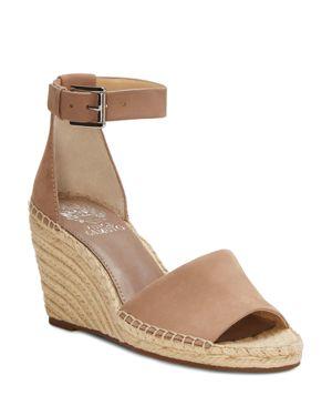 Women'S Leera Suede Espadrille Wedge Sandals, Dusty Mink Leather