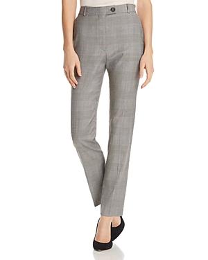 Boss Tofilia Plaid Straight-Leg Pants