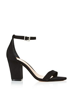 SCHUTZ - Women's Jenny Lee Suede Ankle Strap Block Heel Sandals