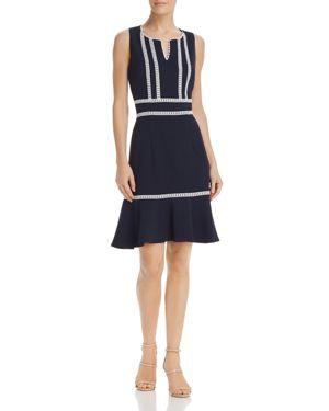 nanette Nanette Lepore Crochet-Trimmed Knit Dress 2867683