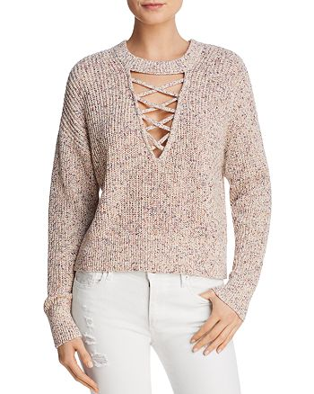 Splendid - Lace-Up Sweater