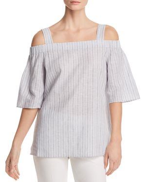 Lafayette 148 New York Wren Cold-Shoulder Blouse