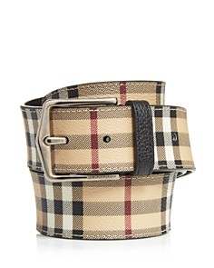 Burberry Haymarket Leather Belt - Bloomingdale's_0