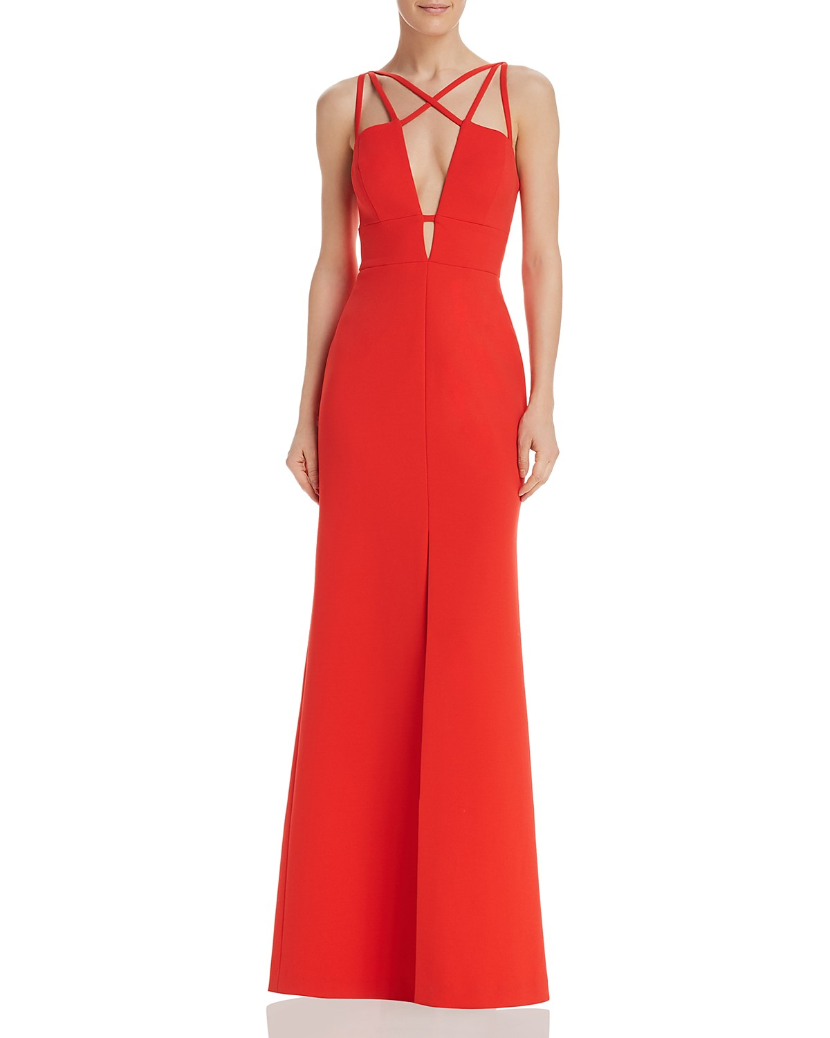 BCBGMAXAZRIA Strap-Detail Gown - 100% Exclusive | Bloomingdale\'s