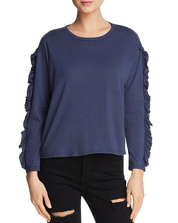 Michelle by Comune - Ruffled Long Sleeve Tee