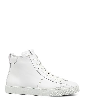 ALLSAINTS - Women's Crey Leather High Top Lace Up Sneakers