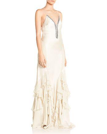 Haute Hippie - Melchizedek Ruffled Bead-Embellished Gown