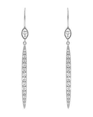 ADORE Linear Crystal Bar Earrings in Silver