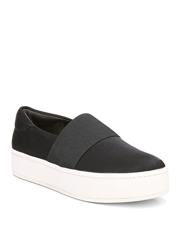 Via Spiga Women's Traynor Leather Slip-On Platform Sneakers