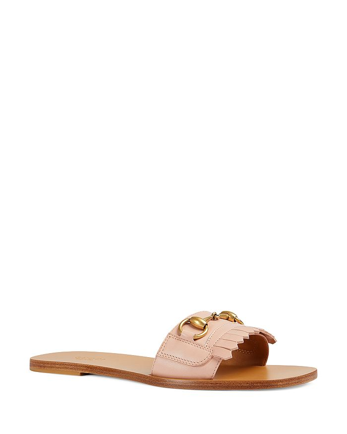 ec762260ab6 Gucci - Women s Fringe Leather Slide Sandals