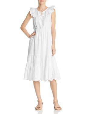 BELTAINE Ruffled Lace Dress - 100% Exclusive in White