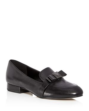 Women'S Caroline Leather Apron Toe Loafers, Black