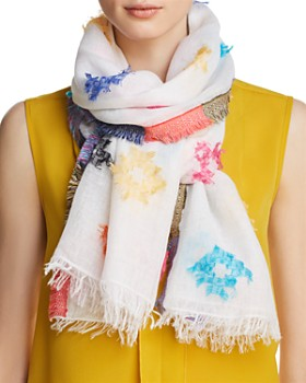 Fraas - Clipped Jacquard Oblong Scarf