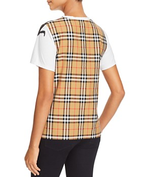 Burberry - Cimarron Graphic-Print Plaid-Back Tee