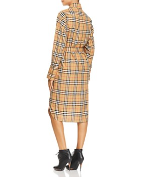 Burberry - Isotto Plaid Shirt Dress Burberry - Isotto Plaid Shirt Dress 279ef8ba118