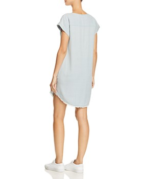 Splendid - Frayed Chambray Shift Dress