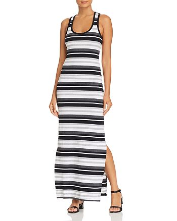 Marc New York - Striped Racerback Maxi Dress