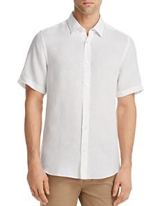 BOSS Luka Linen Regular Fit Button-Down Shirt - Bloomingdale's_0