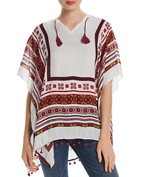 Fraas - Geometric Hooded Poncho