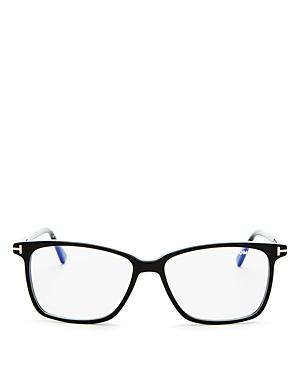 Tom Ford Square Blue Light Glasses, 55mm