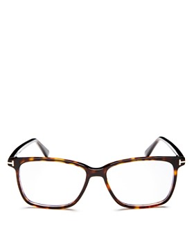 Tom Ford - Square Blue Blocker Glasses, 55mm