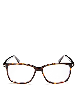 Tom Ford Square Blue Blocker Glasses, 55mm
