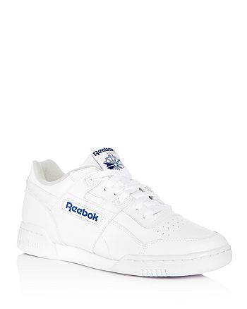 Reebok - Men's Workout Plus Leather Lace Up Sneakers