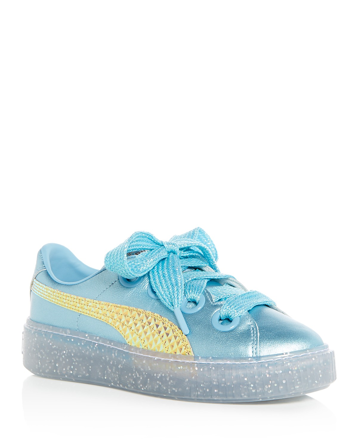Puma X Sophia Webster Women's Glitter Princess Leather Lace Up Platform Sneakers HA3BVHD