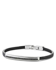 David Yurman - Pavé Leather ID Bracelet with Black Diamonds