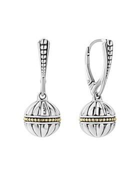 05f058a4d LAGOS - 18K Gold & Sterling Silver Caviar Talisman Beaded Drop Earrings ...
