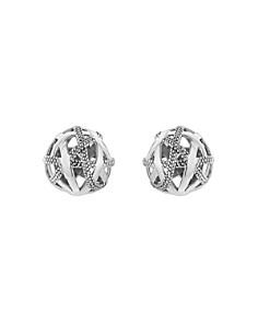 LAGOS - Sterling Silver Caviar Talisman Woven Knot Stud Earrings