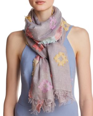 FRAAS CLIPPED JACQUARD OBLONG SCARF