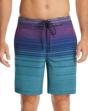 SURFSIDESUPPLY 4-Way Stretch Ombre Stripe Board Shorts