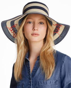Out And About Sunhat, Rich Navy/ Natural/ Black