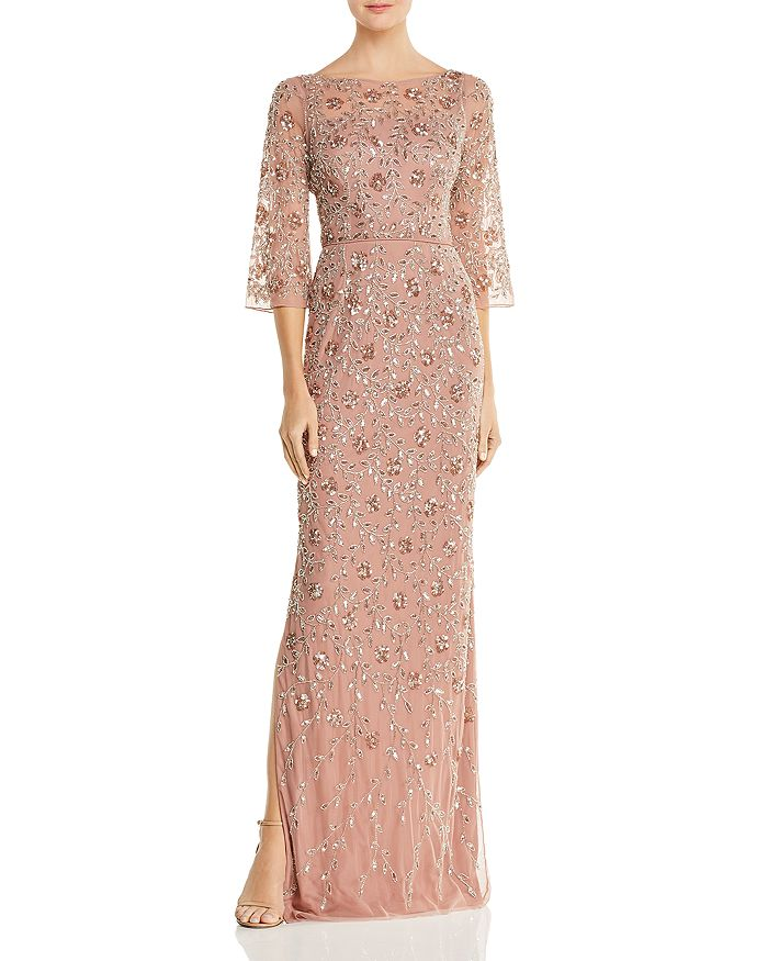 Aidan Mattox - Embellished Boatneck Gown