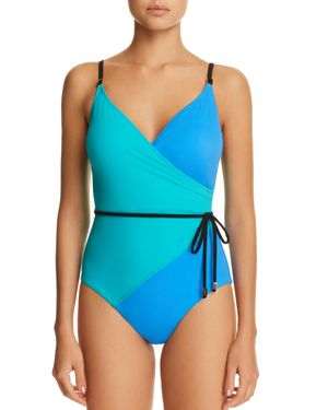 AMORESSA SOLITAIRE MISTY ONE PIECE SWIMSUIT
