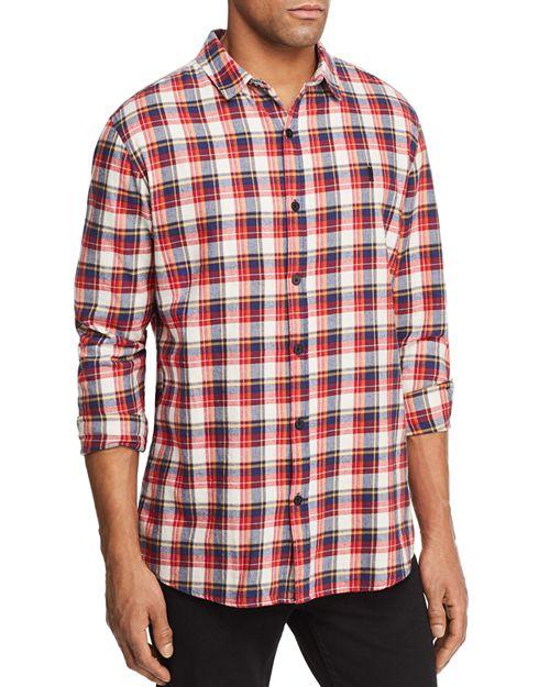 nANA jUDY - Rush Plaid Zip Back Button-Down Shirt - 100% Exclusive